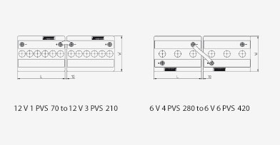 BAE PVS Battery, connection diagram